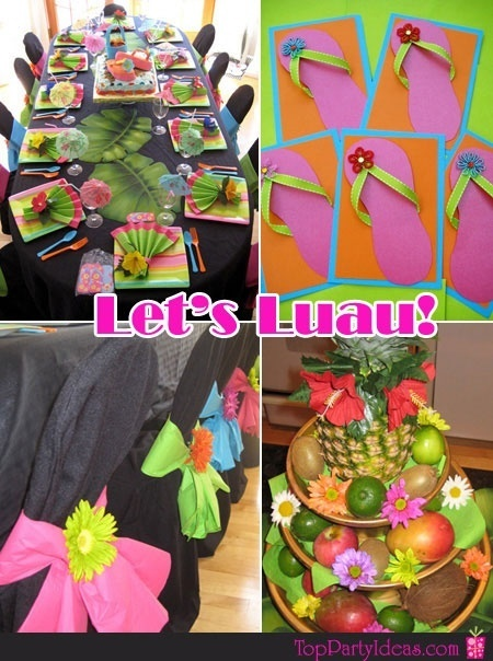 for adults Planning a luau