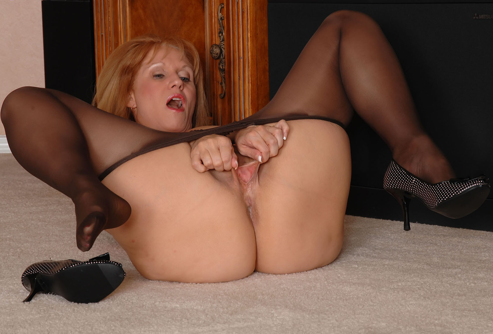 pantyhose Mature movies in