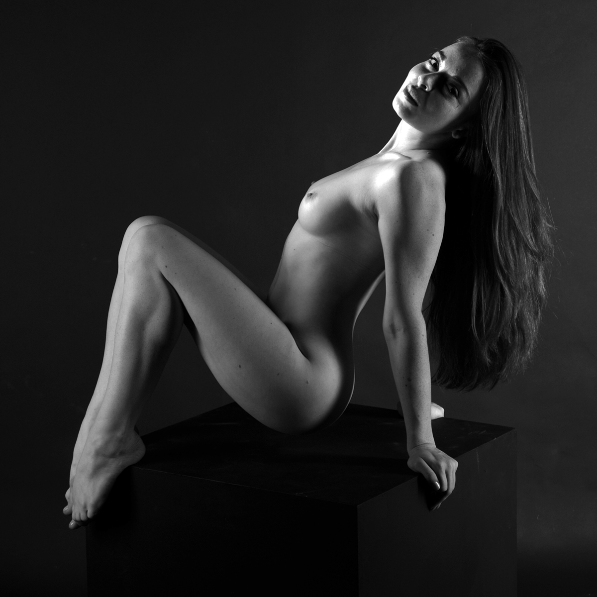 woman artistic and Black white nudes