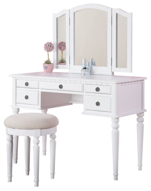 bedroom vanity table White