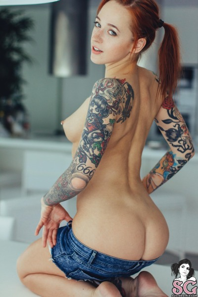 with tattoos porn Girls redhead