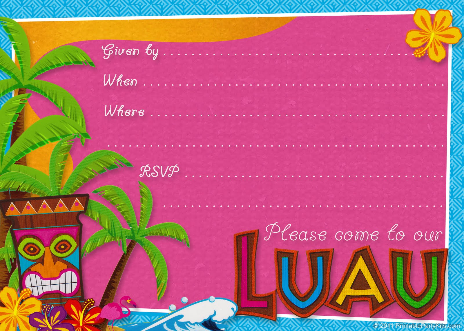 adults Planning a luau for