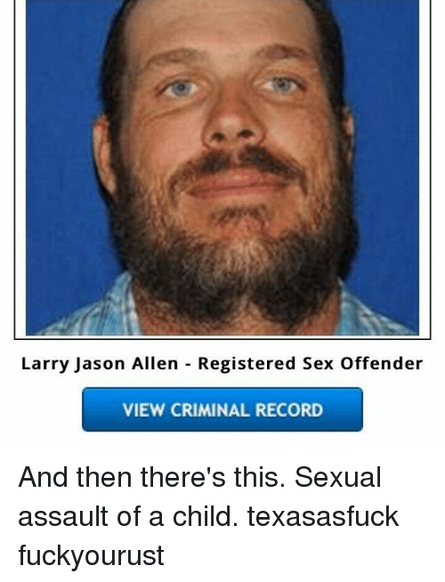 sex Offender record