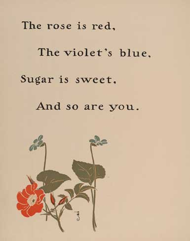 blue poems are red are violets Roses