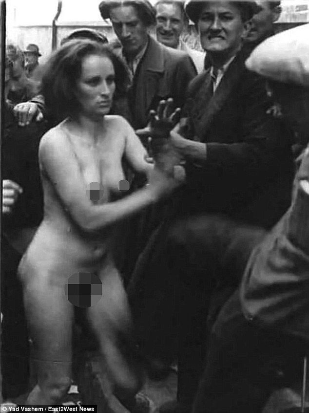 naked woman jewish Camp concentration from picture