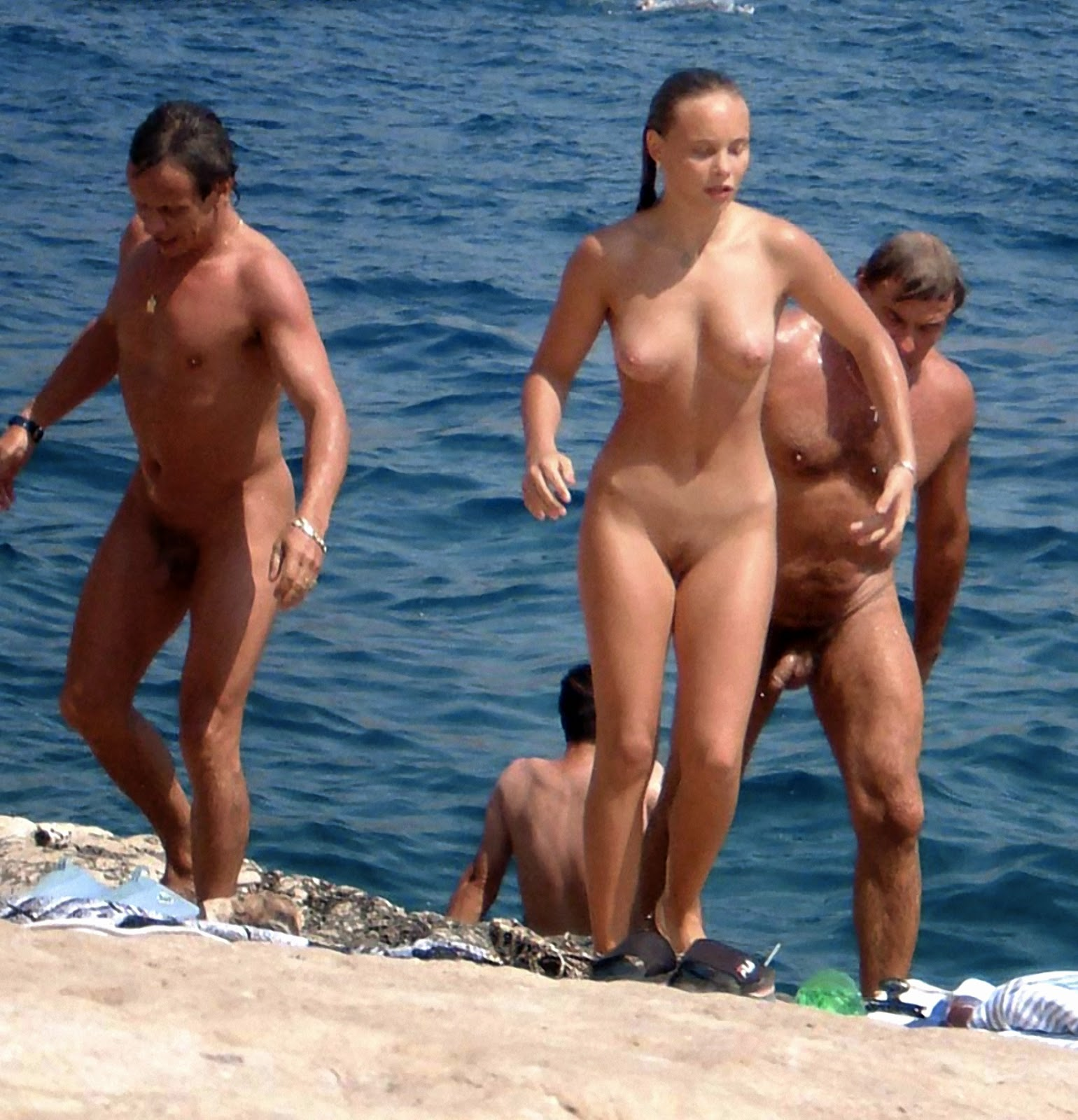 nude Family french girls nudist beach