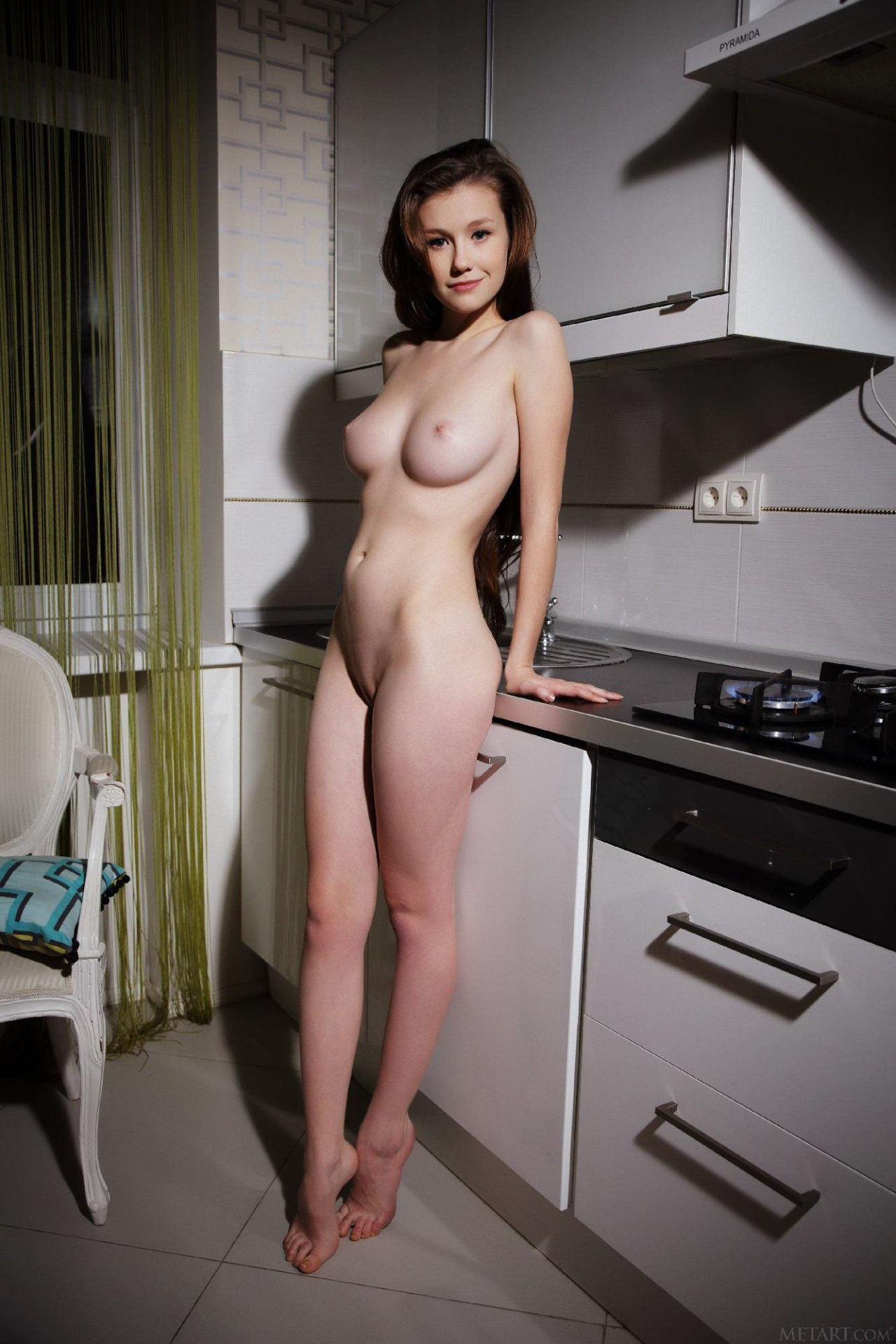 kitchen in naked mature Sexy women the