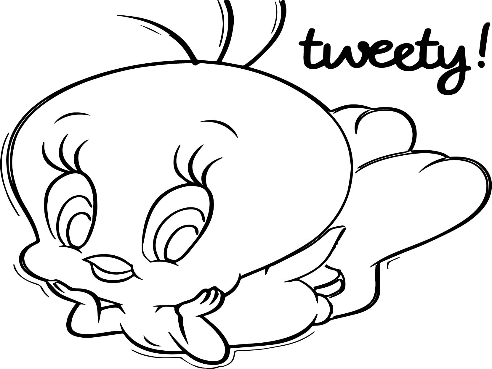 bird pages Tweety coloring