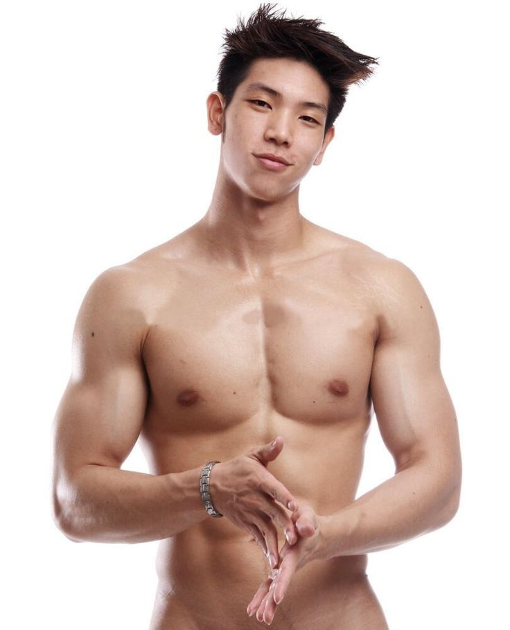 model naked korean male