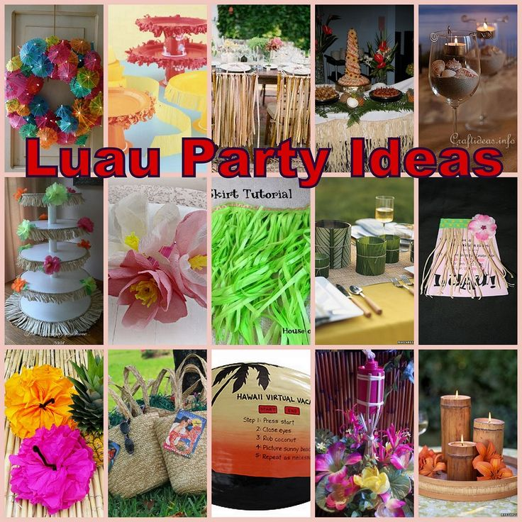 adults for a Planning luau
