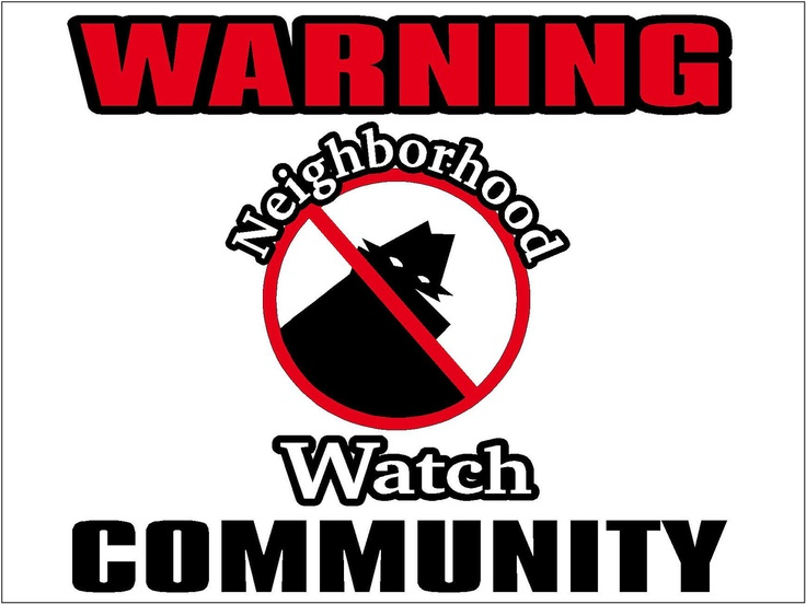 crime Neighborhood watch sex