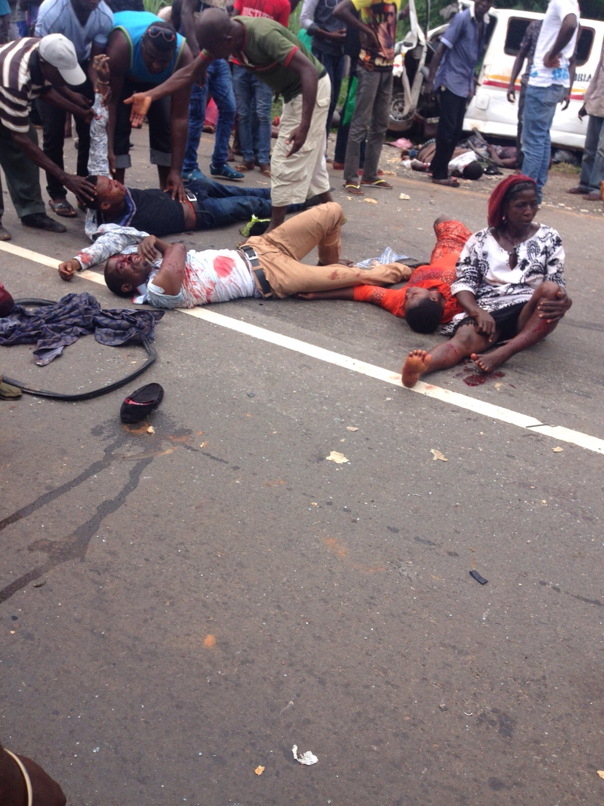 motorcycle accident Gruesome
