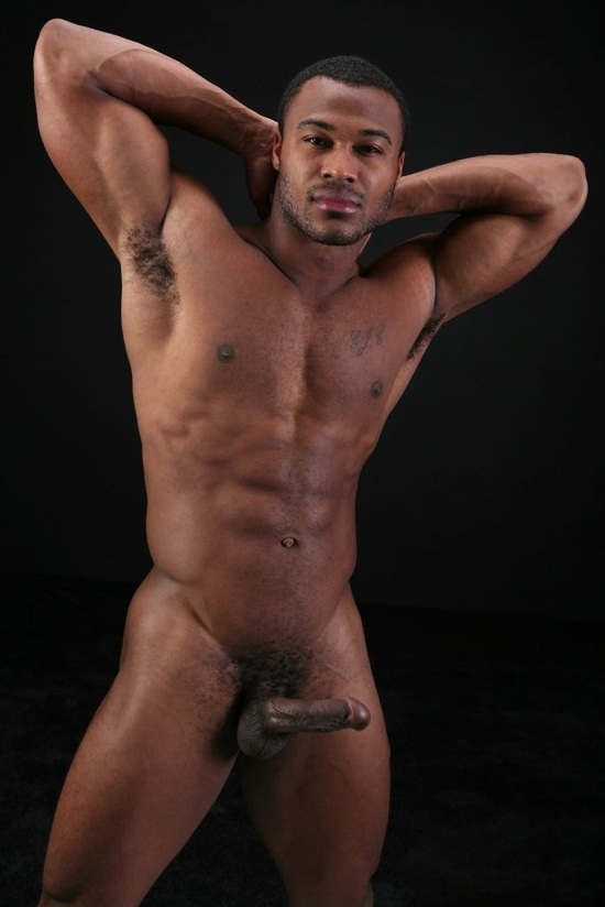 man abs nudes black