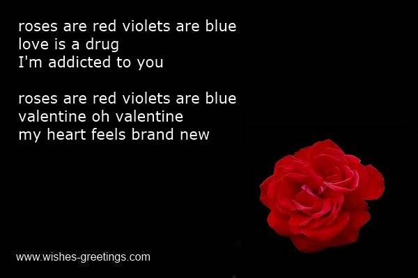 blue violets poems red Roses are are