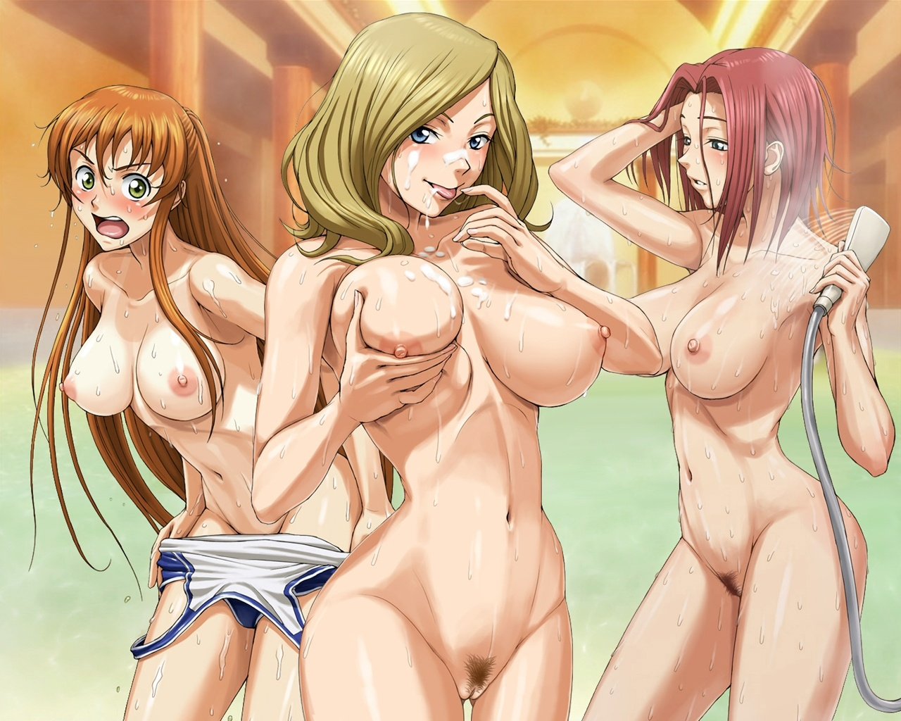 with big nude Anime tits girls