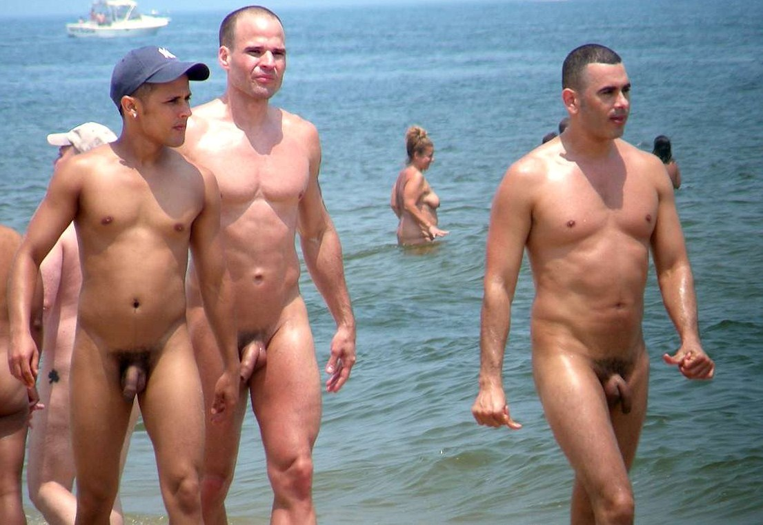 nude beaches men in Naked