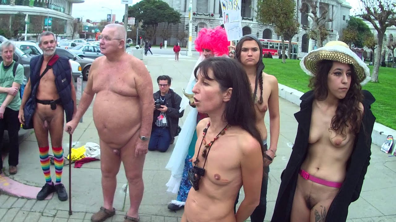 francisco nude protest San