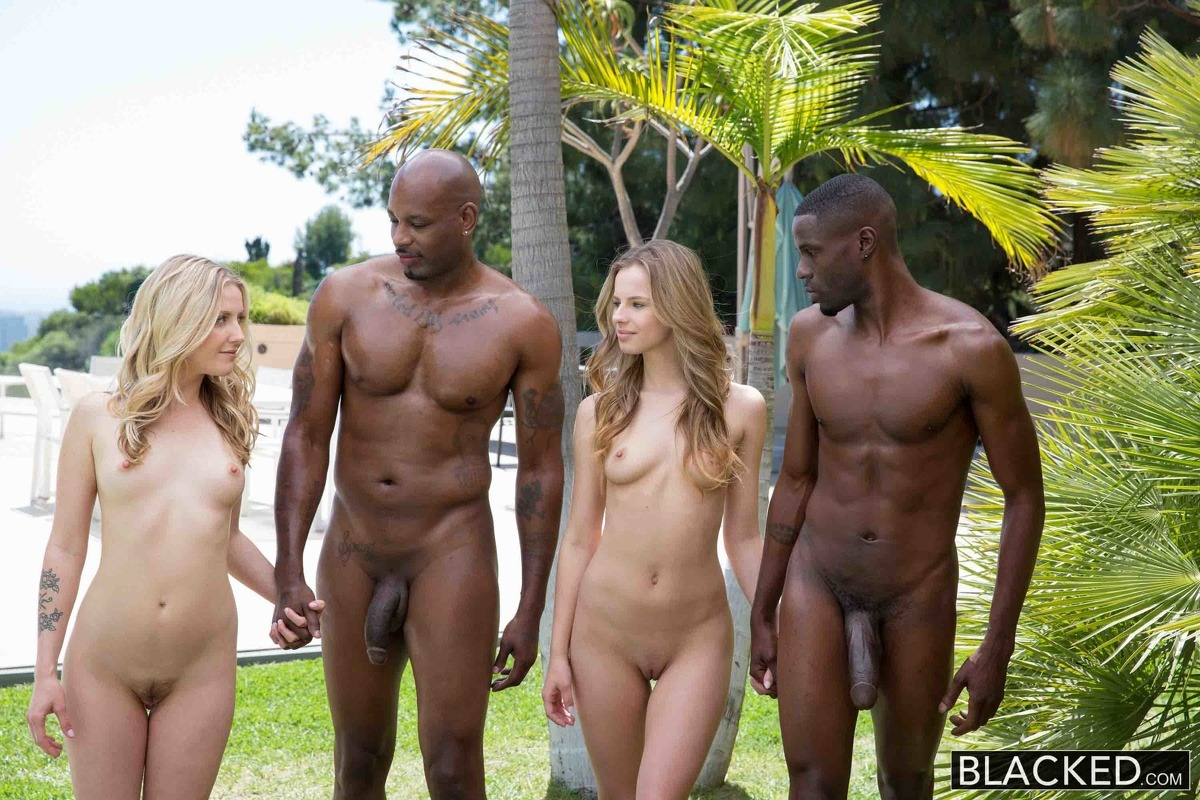beach on Nude couples black