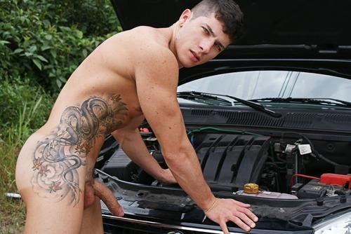 guys with cars naked