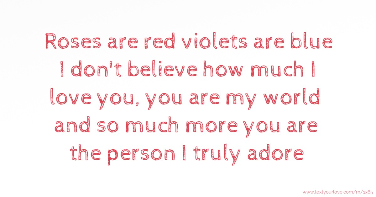 violets red blue poems Roses are are