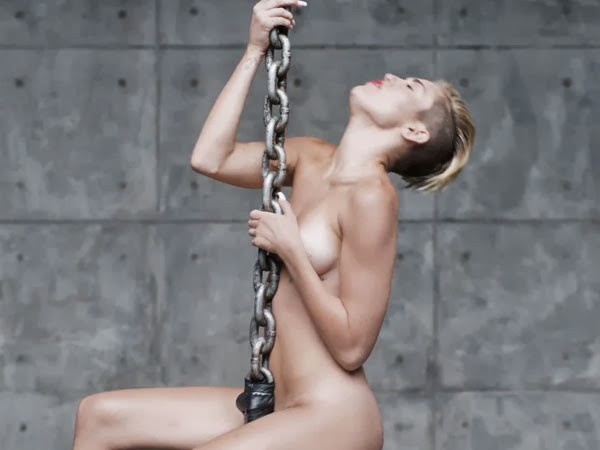 cyrus wrecking ball naked Miley