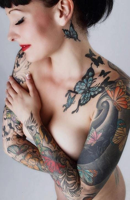 tattooed nude women beautiful