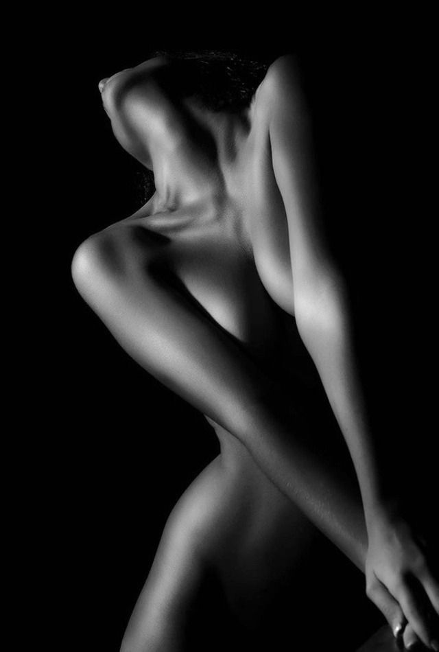 nudes white Black and woman artistic
