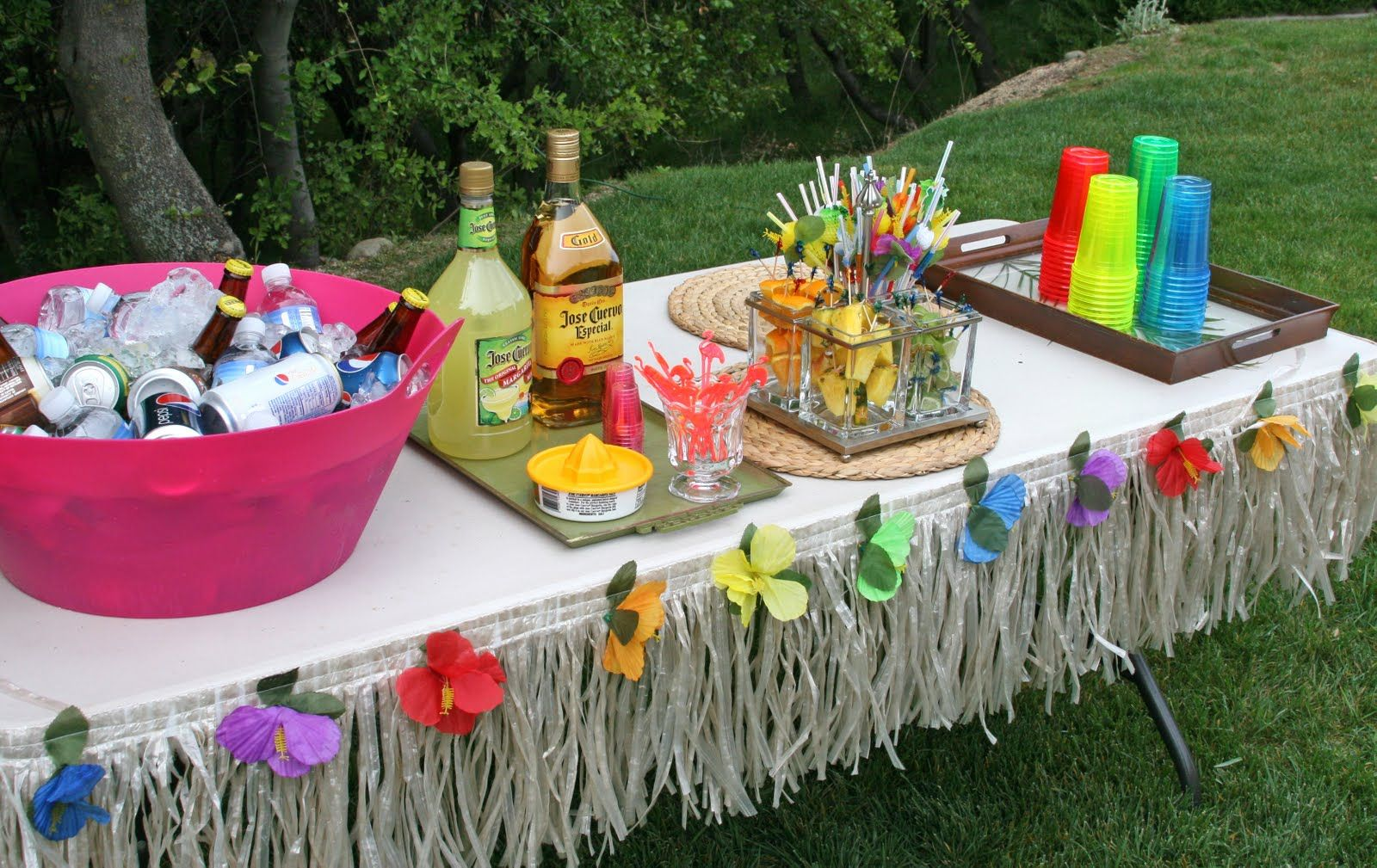 a luau for adults Planning
