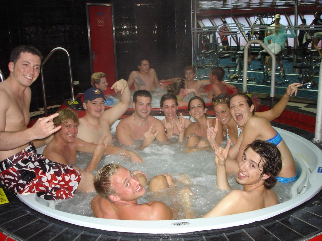 tub party Hot orgy sex