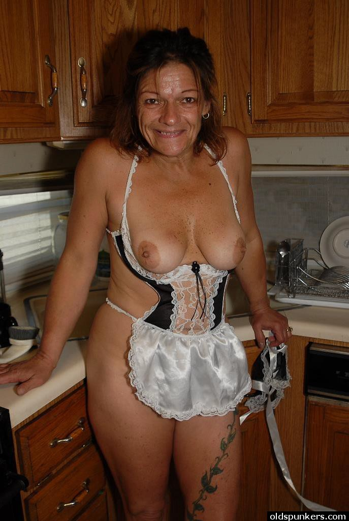 mature the kitchen Sexy naked women in