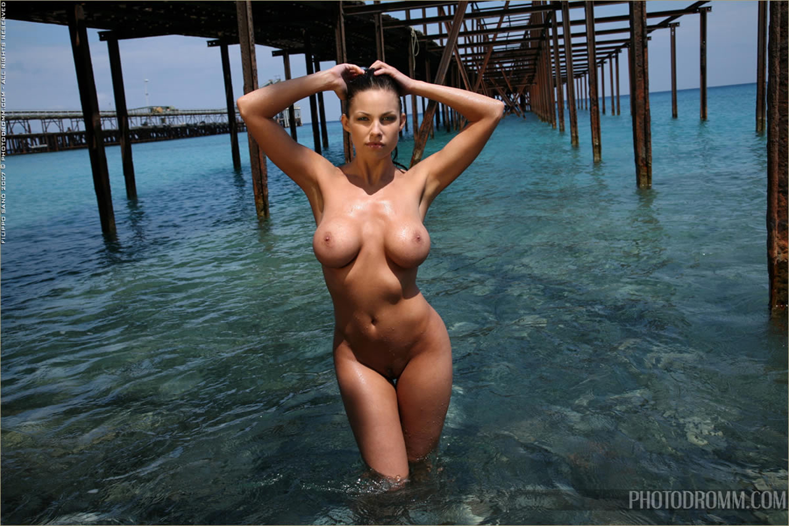 sea beach bigboobs nude woman in