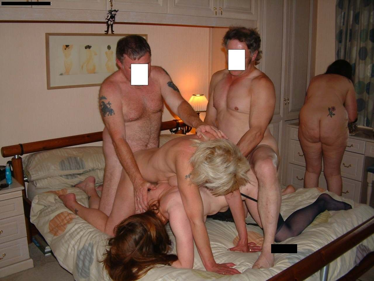 Homemade orgy with dp for two exciting housewives