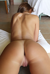 tan nude milf lines ass round