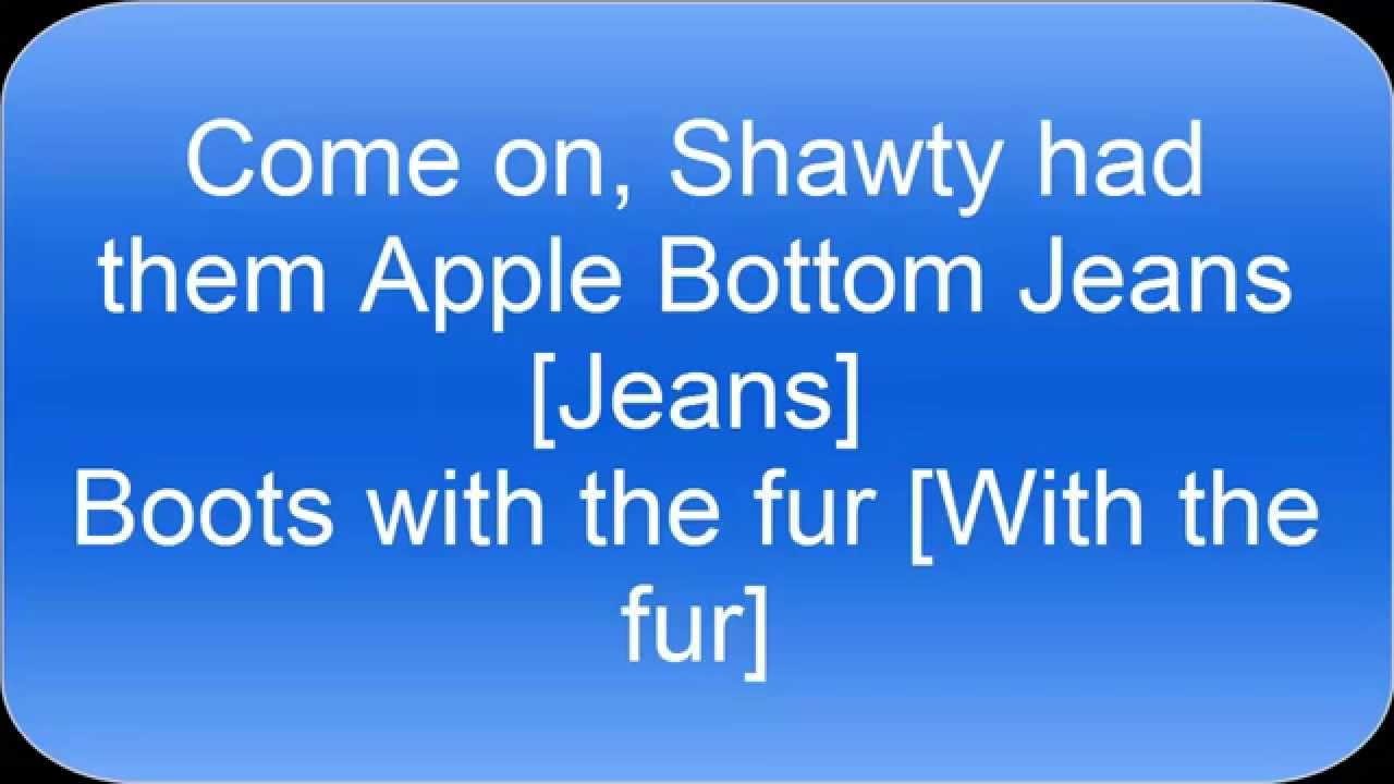 bottom jeans jeans lyrics apple Had them