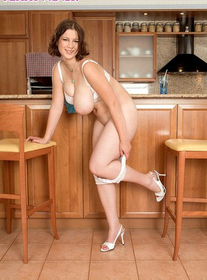 naked kitchen women in Sexy mature the