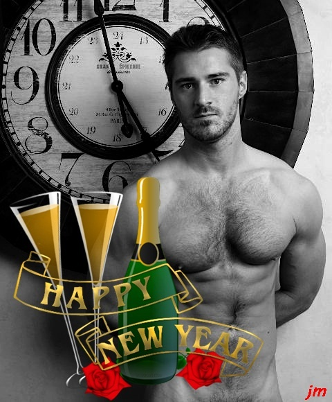 happy year male Sexy new