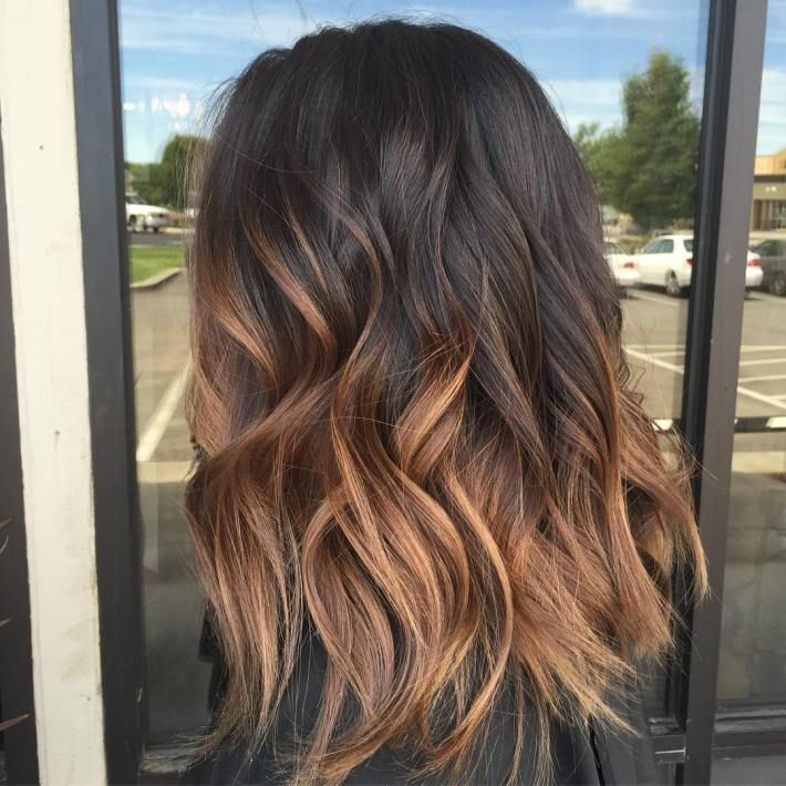 ombre hair and blonde color Black