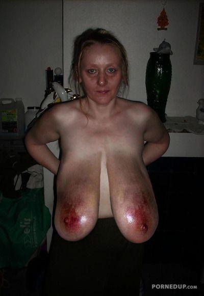 tits big slave BDSM Granny