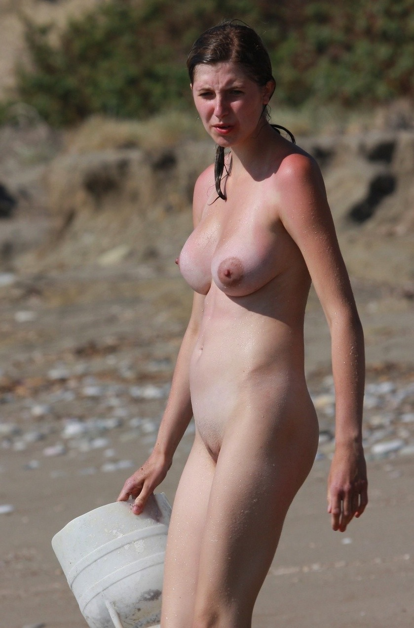 big on beach tits Candid