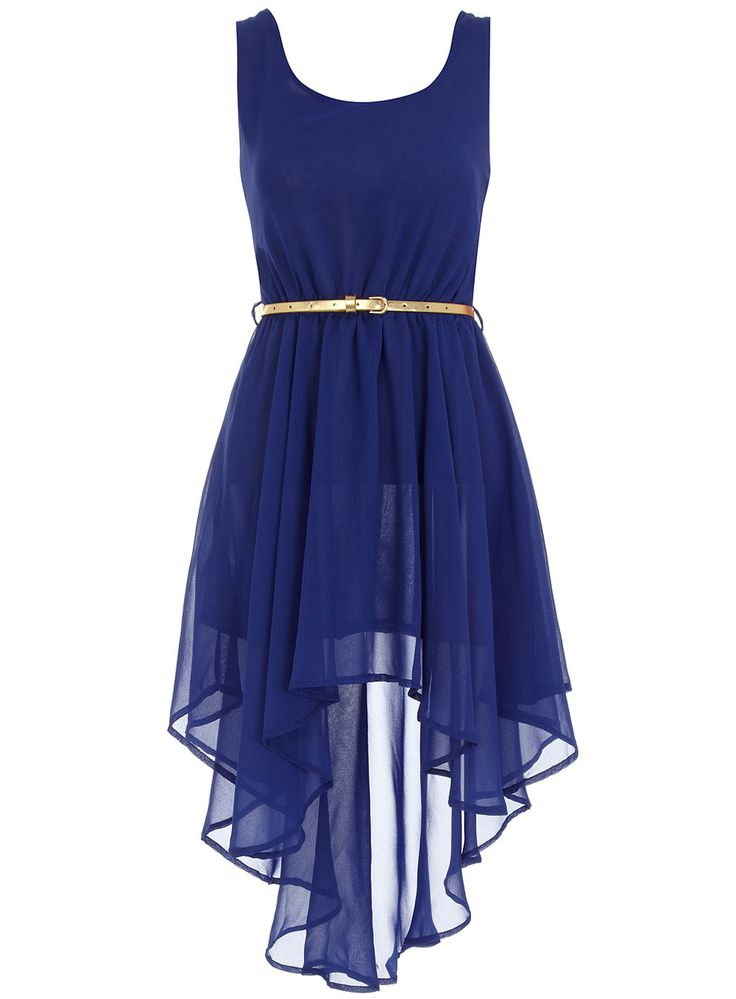 white high low Blue dresses and