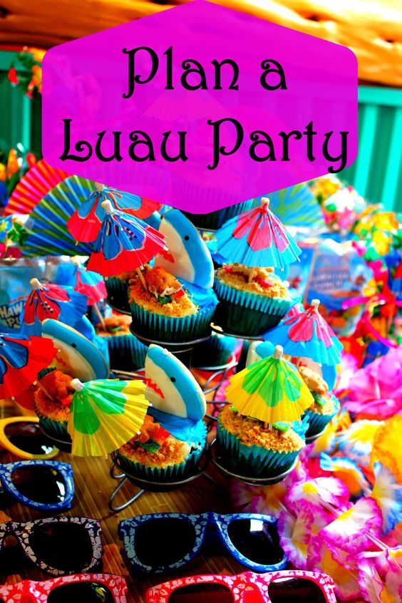 a luau adults Planning for