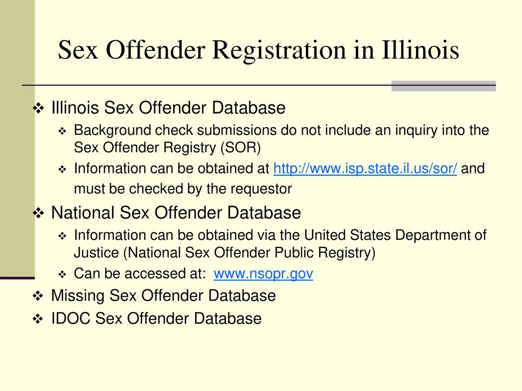 police sex offender list state Il
