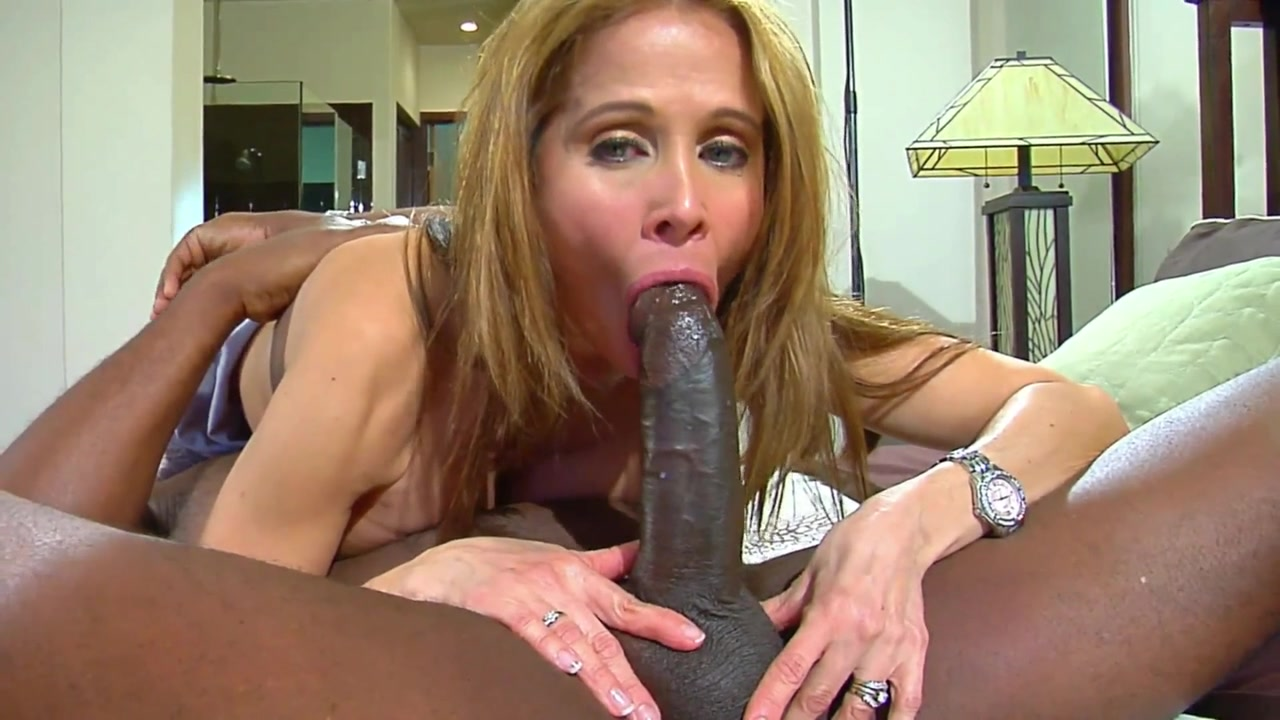 sucking black Blonde cock big