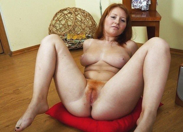 redhead pussy Mature spread hairy